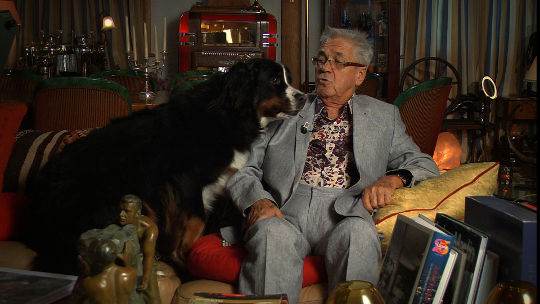Claude Nobs and his dog